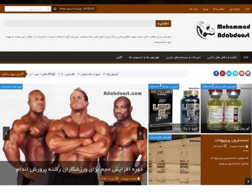 وب سایت شخصی محمد ادبدوست