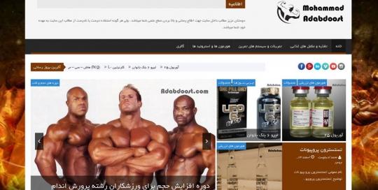 وب سایت شخصی محمد ادبدوست adabdost21 540x272