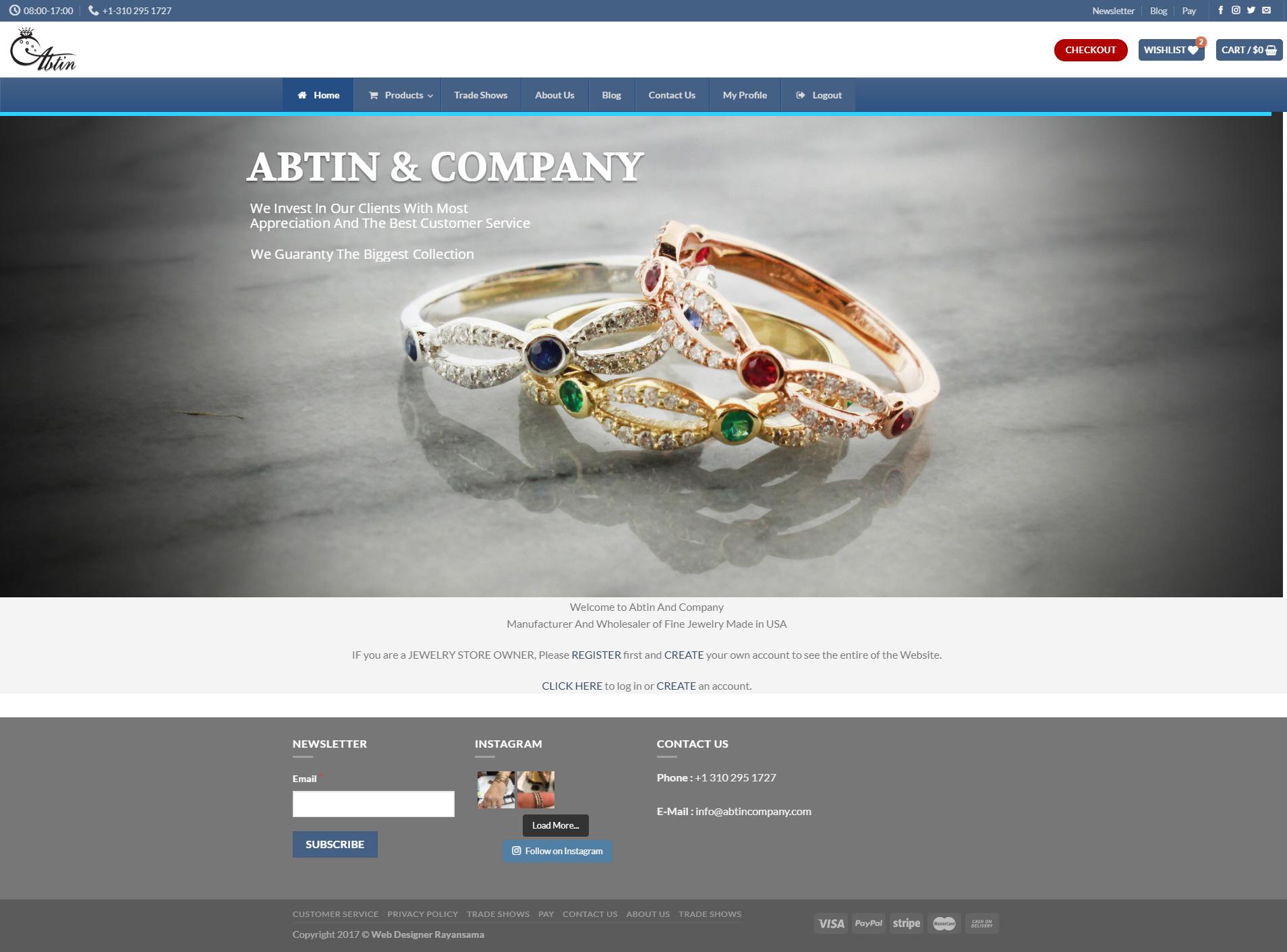فروشگاه آبتین کمپانی فروشگاه آبتین کمپانی abtincompany 1  نمونه طراحی وب سایت abtincompany 1