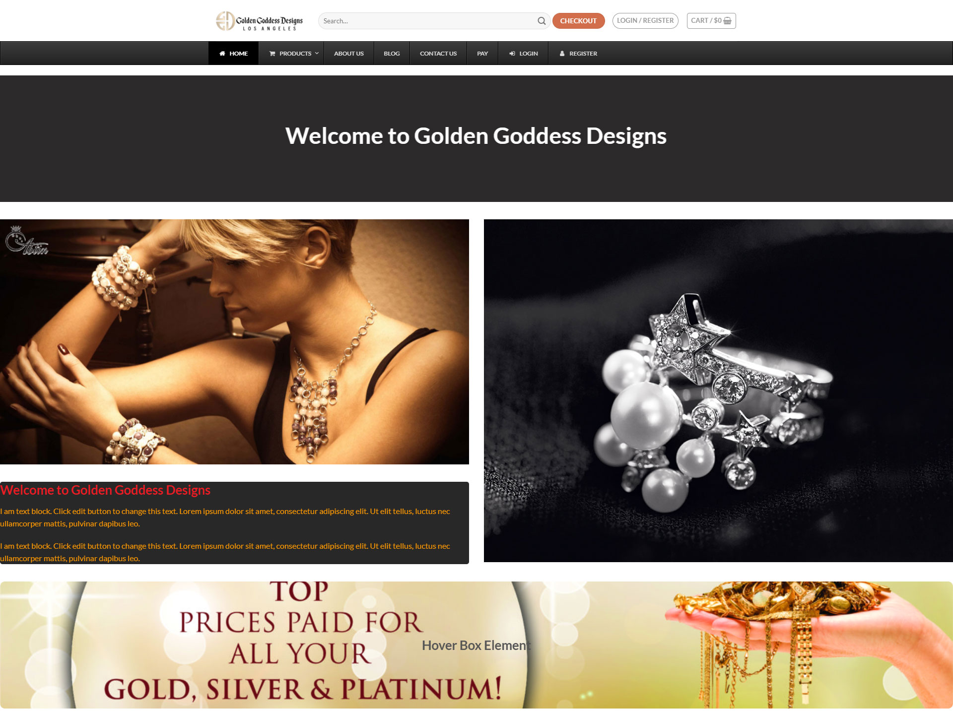 goldengoddessdesigns.com goldengoddessdesigns  نمونه طراحی وب سایت goldengoddessdesigns